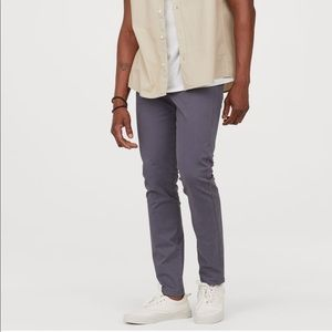 H&M Coupe Skinny fit cotton twill pants in grey